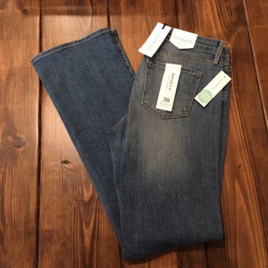 Just Black Steph Distressed Demi-Bootcut Jean